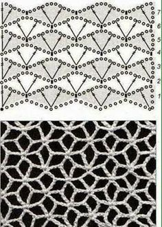 My crochet diary - with lots of free instructions, links, tips and ideas . My crochet diary - with lots of free instructions, links, tips and ideas! clothing crochet # My crochet diary - with lot. Filet Crochet Charts, Crochet Motifs, Crochet Diagram, Crochet Stitches Patterns, Knitting Charts, Crochet Shawl, Crochet Doilies, Easy Crochet, Free Crochet