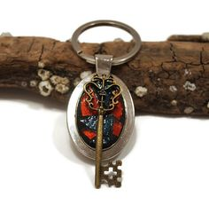 Mosaic Key Chain Stained Glass Key Chain by PiecesofhomeMosaics