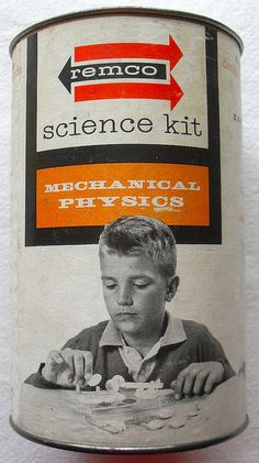 1961 Remco Science Kit In A Can 1960s Graphics Label