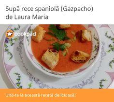 Gazpacho, Recipes, Recipies, Ripped Recipes, Cooking Recipes, Medical Prescription, Recipe