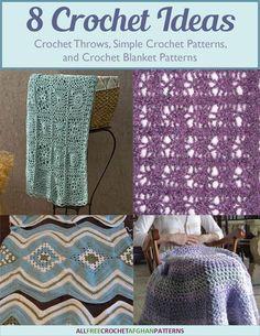 8 Crochet Ideas for Crochet Throws, Simple Crochet Patterns, and Crochet Blanket…