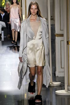 Celine's pajamas on the go look for spring 2013 rtw. Very cool. Very nearly naked. Course if my pjs looked that good, I'd be tempted to wear them out of the house as well..