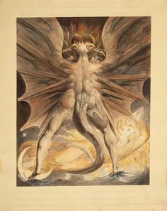 The Great Red Dragon and the Woman Clothed with the Sun by William Blake via DailyArt mobile app