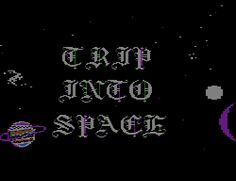 Vintage Text via Video Screen Cap: Trip Into Space † #text #vintage #type #typography #screencap #screengrab #phrase #quote #quotation #expression #cosmic #trip #space #OuterSpace #TripIntoSpace