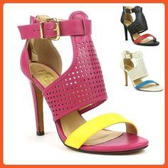 Colorblock Open-Toe Ankle Cuff Sandal Heels - Sandals for women (*Amazon Partner-Link)