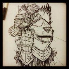 crow and Knight helmet