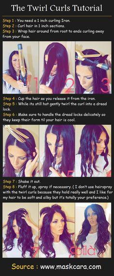 Tuto pour des cheveux ondulés/ grosses boucles !