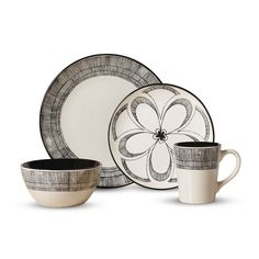 Shop our great selection of dinnerware sets for the whole family. You\u0027ll find the best brands and materials on dinnerware circular rectangular ...  sc 1 st  Pinterest & My new set of dishes! \u003c3 Cuisinart® \u0027Diamond Leaf\u0027 16-Piece ...