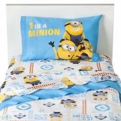 Despicable Me Bedding Set Fitted Sheet, Flat Sheet, Pillowcase