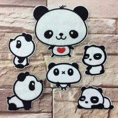 New to craftapplique on Etsy: Panda Animal Patches Cartoon Patches Personalized Gifts Patch Embroidered Patches Iron On Patch Sew On Patch A5 (1.90 USD)