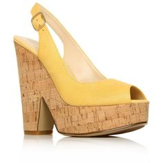 Yellow Trippy High heel shoes