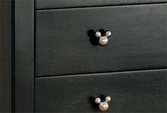 I love these pulls.  I need to find out where to get them and make my own Mickey furniture for less $