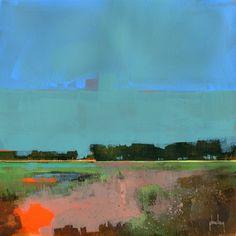 Empty sky original acrylic semi-abstract by PaulBaileyArt on Etsy