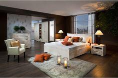 Spálňa TIROL: Vanilka patina / Vanilka patina. Provence, Art Pieces, Bed, Furniture, Vanilla, Home Decor, Decoration Home, Stream Bed, Room Decor
