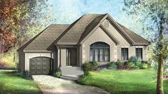 Floor Plan AFLFPW77920 is a beautiful 1019 square foot  Traditional  home design with 1 Garage Bay