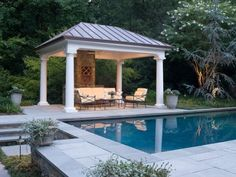 A gazebo is a comfortable place to gather with your friends or family outside of your home. A gazebo may consist of pillars, roof, and furniture. You can attach your gazebo with your house or unattached. Gazebo Roof, Diy Gazebo, Gazebo Plans, Backyard Pavilion, Backyard Gazebo, Garden Gazebo, Pergola Ideas, Iron Pergola, Patio Ideas
