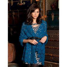 Wrapster Shawl Free Lace Crochet Pattern