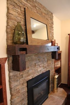 Fireplace Remodel On Pinterest Stone Fireplaces Mantles