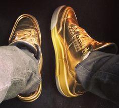 "Air Jordan 3 ""Solid Gold"" for Usher http://nicek.is/1jqPJZi New Hip Hop Beats Uploaded EVERY SINGLE DAY http://www.kidDyno.com"