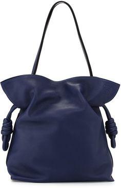 Loewe Flamenco Knot Bucket Bag, Navy Blue