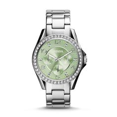 Fossil Riley Multifunction Stainless Steel Watch - It's green!!!