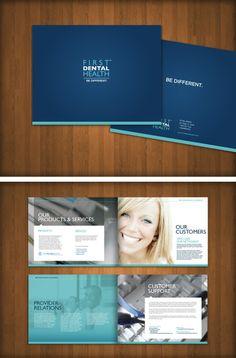 First Dental Health Multi-Page Brochure Design Graphic Design Brochure, Brochure Layout, Graphic Design Typography, Web Design, Book Design, Layout Design, Design Page, Corporate Design, San Diego