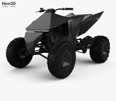 Tesla Cyberquad ATV 2019 model model based on a real car, created according to the original dimensions. All model files were Atv Car, Car 3d Model, Tesla Motors, Car Design Sketch, Travel Humor, Car Engine, Electric Cars, Concept Cars, Architecture Art