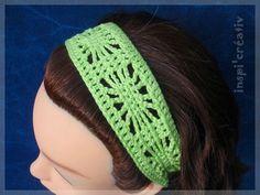 Bandeau large au crochet (free pattern)