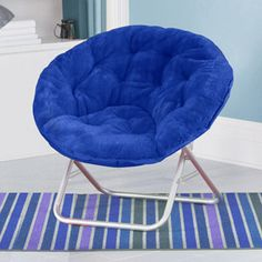 Mainstays Faux-Fur Saucer Chair, Multiple Colors Black 29.99