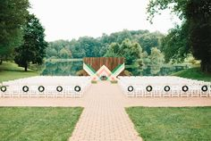 Wedding Backdrop inspired by the art of Mary Blair