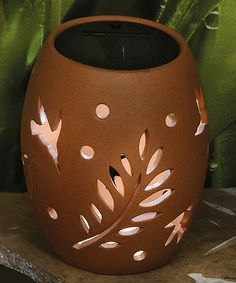 Look what I found on #zulily! Large Terra-cotta Ceramic LED Vase #zulilyfinds