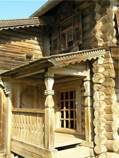 New house wooden architecture design Ideas Wooden Architecture, Russian Architecture, Architecture Details, Style At Home, Tiny House Cabin, Lodge Style, Grand Homes, Home Landscaping, Wooden House