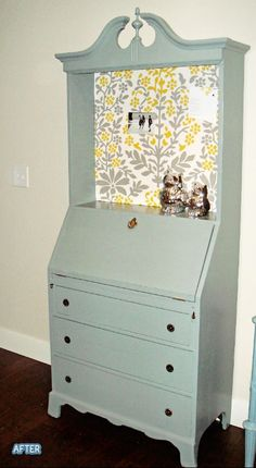 I have a secretary desk that could use a revamp like this.