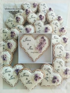 66 Ideas for cookies wedding favors heart Fancy Cookies, Valentine Cookies, Iced Cookies, Cute Cookies, Cupcake Cookies, Sugar Cookies, Christmas Cookies, Heart Cookies, Owl Cookies