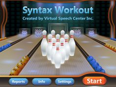 Speech Room News: Syntax Workout {App Review}-bowling theme! Pinned by SOS Inc. Resources. Follow all our boards at pinterest.com/sostherapy for therapy resources.