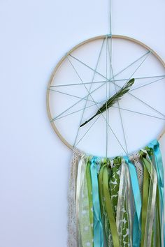 Harper and I made our very own dream catcher from her favorite colors of ribbon and fabric. A very sweet mama and daughter project.