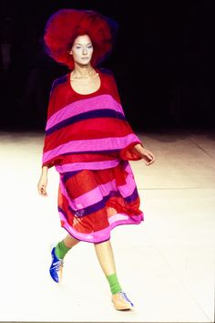 Comme des Garçons Spring 1996 Ready-to-Wear Fashion Show - Chrystèle Saint Louis Augustin