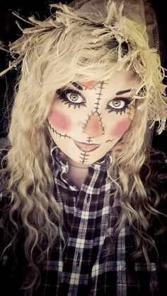 Mindy scarecrow makeup is cool