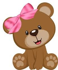 Cute Baby Girl Bear Clipart Cartoon Picture Images Free To Copy For Your Own Personal Use. Baby Shawer, Cute Baby Girl, Cute Babies, Clipart Baby, Deco Baby Shower, Baby Boy Shower, Tatty Teddy, Teddy Bear, Girls Clips