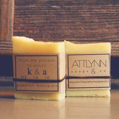 Bridal Shower Favor Custom Mini Soap 2oz All by AttlynnSoapsAndCo