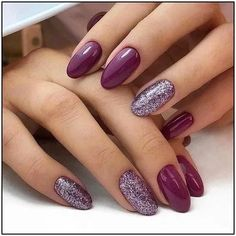 Color purple Trendy Manicure Ideas In Fall Nail Colors;Purple Nails; Trendy Manicure Ideas In Fall Nail Colors;Purple Nails; Fall Gel Nails, Cute Nails For Fall, Short Gel Nails, Fall Nail Ideas Gel, Fall Manicure, Autumn Nails, Mauve Nails, Pink Nails, My Nails