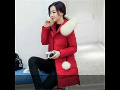 2016 Women Winter Jackets Pockets Zippers Slim Hooded Down Cotton Jacket Women Winter Coat Top Warm