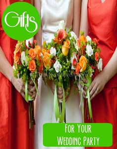 Brides and Grooms -make sure you plan early and know your budget for gifts for you bridesmaids and groomsmen. They are an important part of your wedding and I have some creative gift ideas for you!