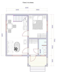 Small House Floor Plans, Vintage House Plans, Sweet Home, 1, Cottage, Indoor, House Design, How To Plan, Building