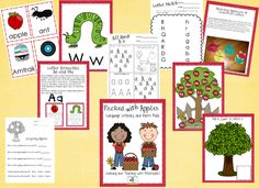 """Packed With Apples"" Language, Literacy & Math Pack (from Learning & Teaching With Preschoolers on TpT)"