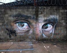 Leonardo Smania in Brazil, 2017 Grafitti Street, Street Art Banksy, Murals Street Art, Best Street Art, 3d Street Art, Street Artists, Best Graffiti, Smart Art, Shadow Art