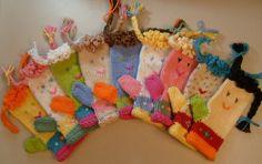 Play Pal Mittens MACHINE Knitting Pattern PDF