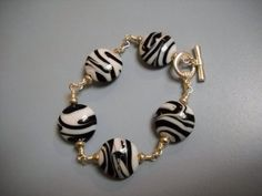 Black White and Silver Wire Wrapped Beaded by Beads4You2008,