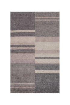 Hand-Loomed Indian Wool Rug - Charcoal