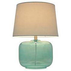 Glass Table Lamp Aqua (Includes CFL bulb) - Pillowfort™ : Target